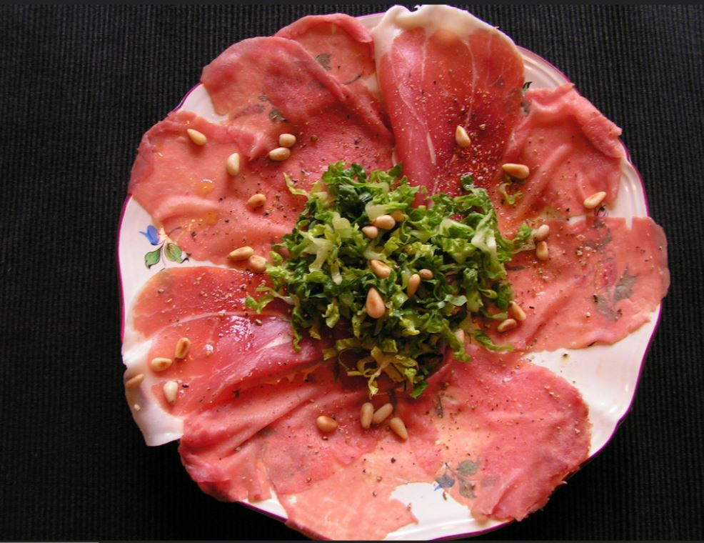 le carpaccio, plat issu de la raw food