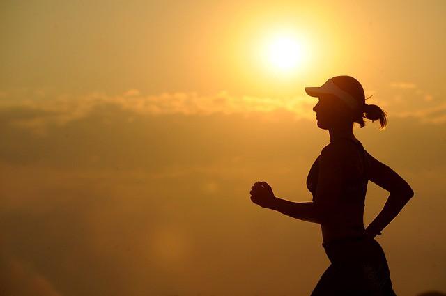 Femme en train de courir.