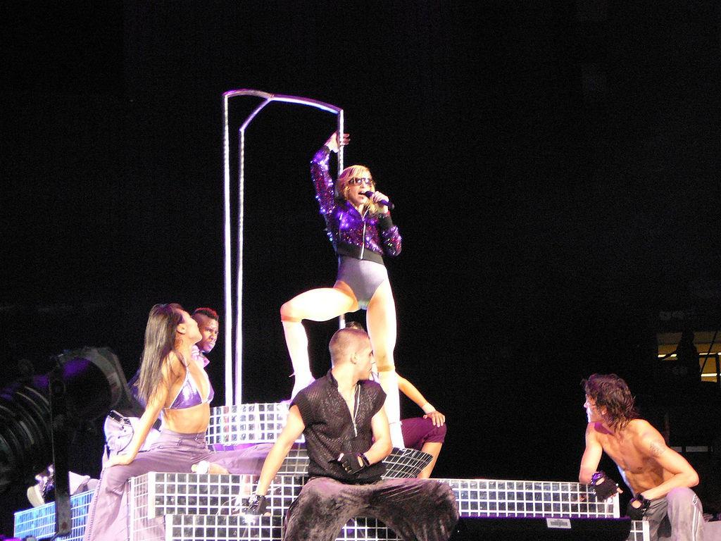 Madonna et le pilates sur scene