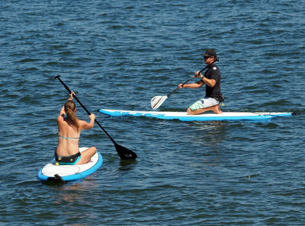 Paddle board en couple