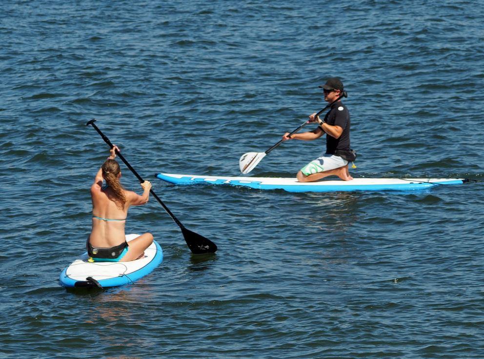 Paddle board en couple