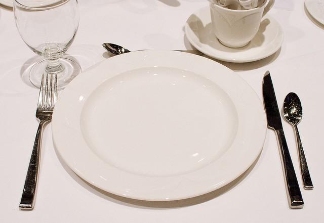 Une assiette vide représentant le jeûne intermittent.