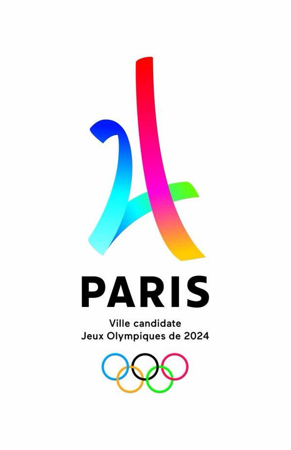 Logo de la campagne de Paris 2024 ville hôte des Jeux olympiques de 2024.