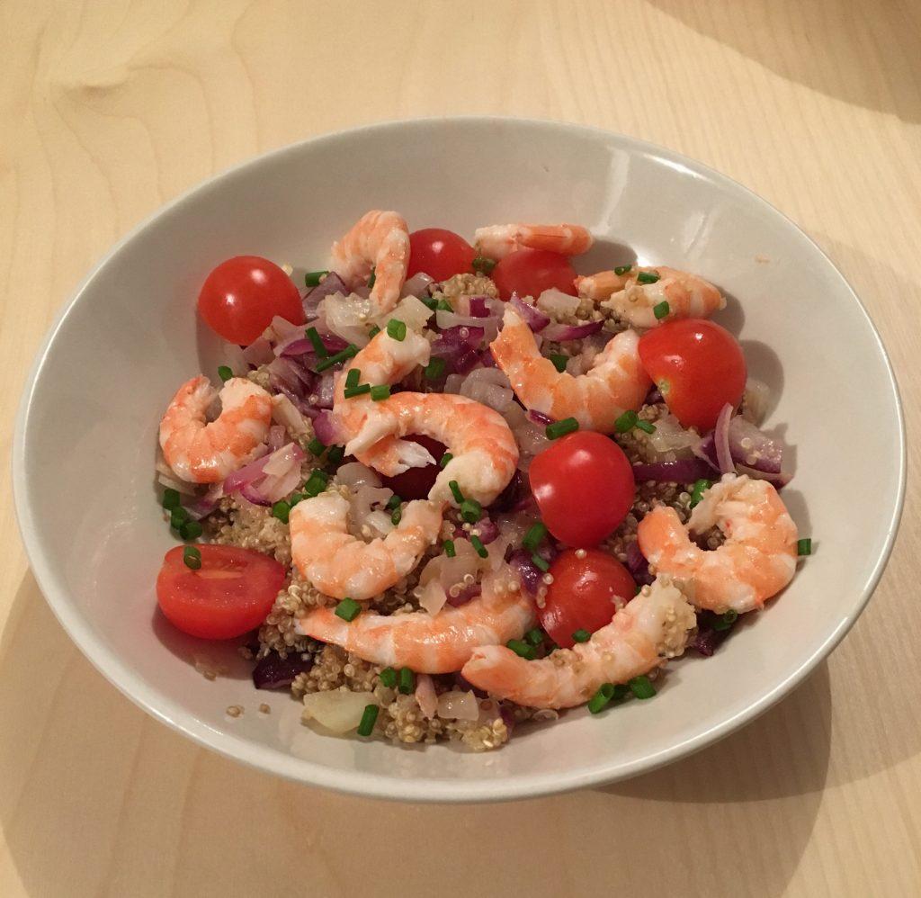 tomates cerise quinoa