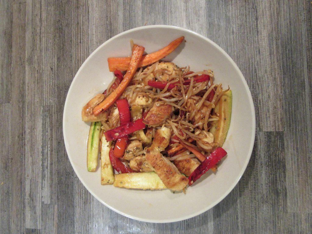 wok de poulet