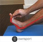 Exercices de stretching du long fléchisseurs de l'hallux