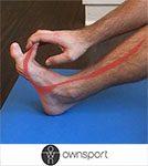 Exercices de stretching des longs fléchisseurs des orteils