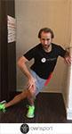 Exercices de stretching du moyen et petit fessiers