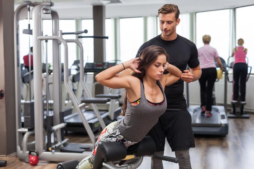 femme en préparation physique