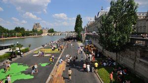 Running à paris : parc des quais de seine