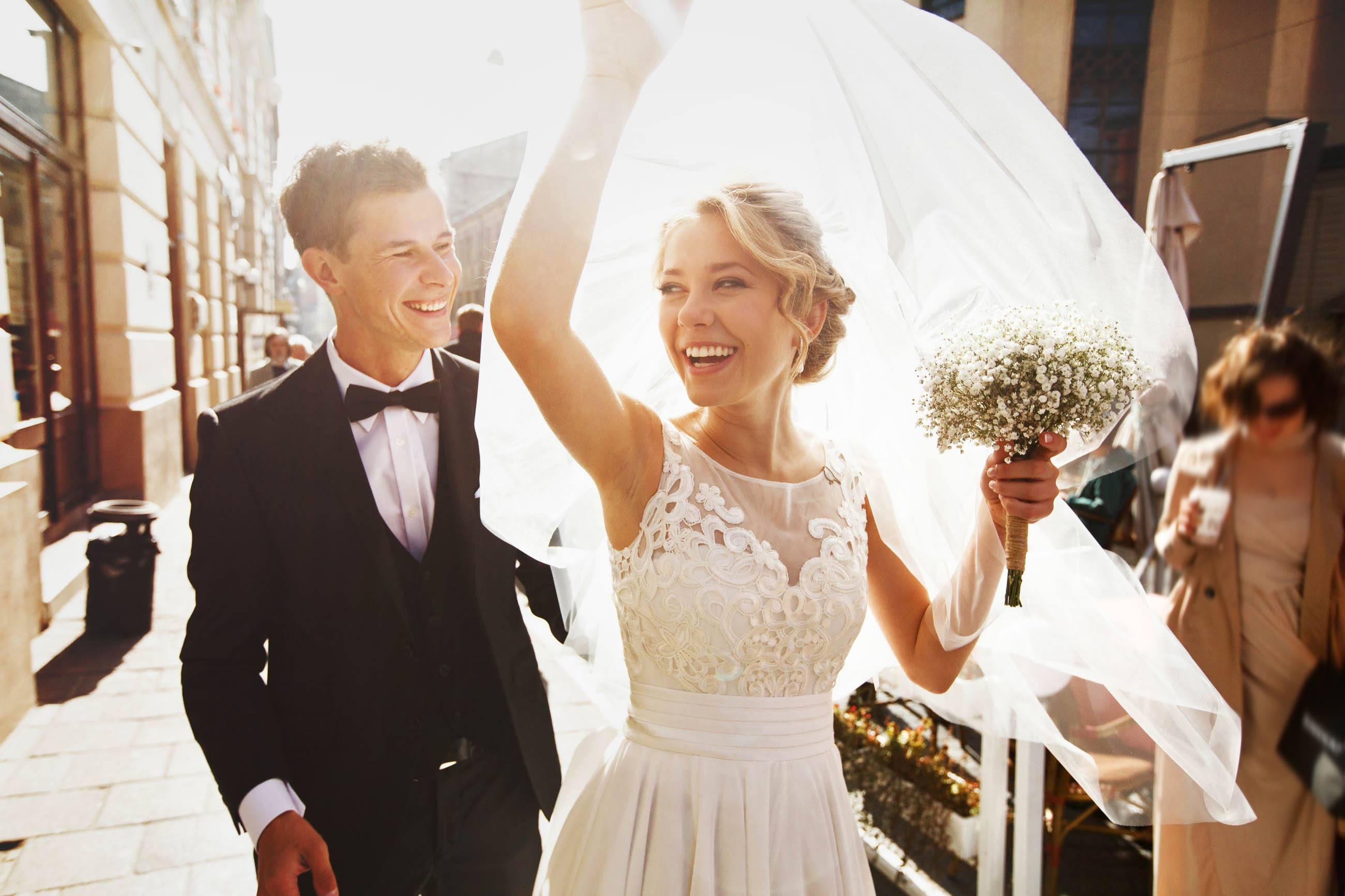 Un couple de sportif se marient