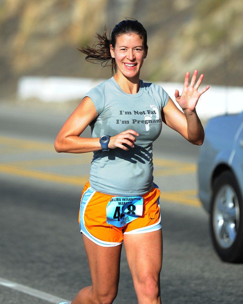 Sport avant la grossesse d'une pratiquante de course à pied