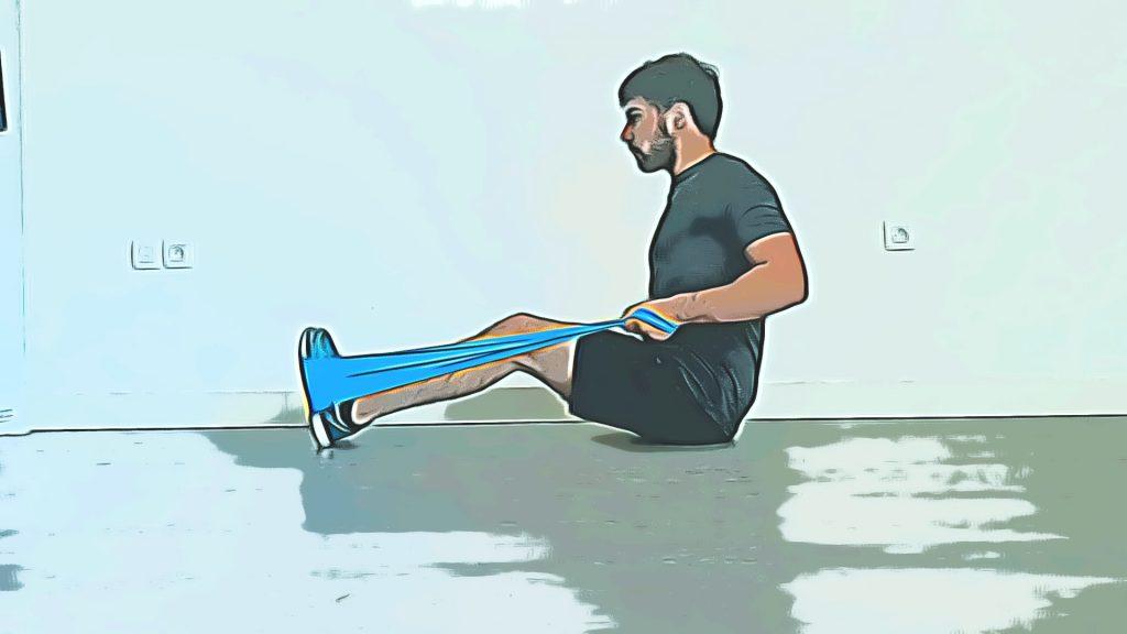 Exercices de renforcement musculaire : tirage horizontal