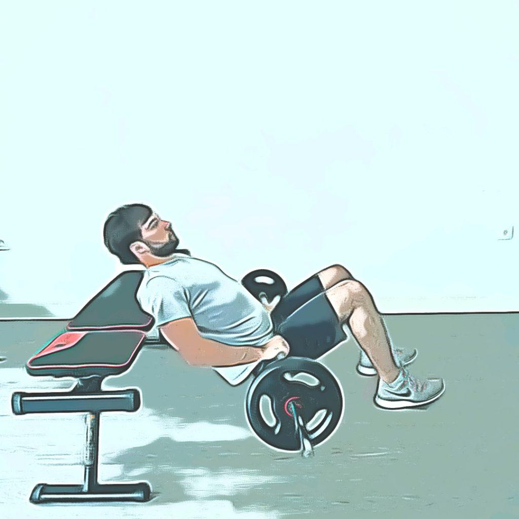 Position de départ du hip thrust
