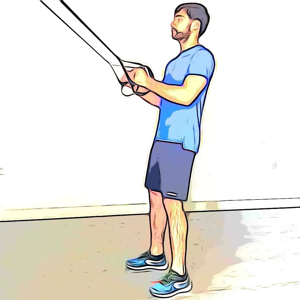 TRX squat jump : position de départ