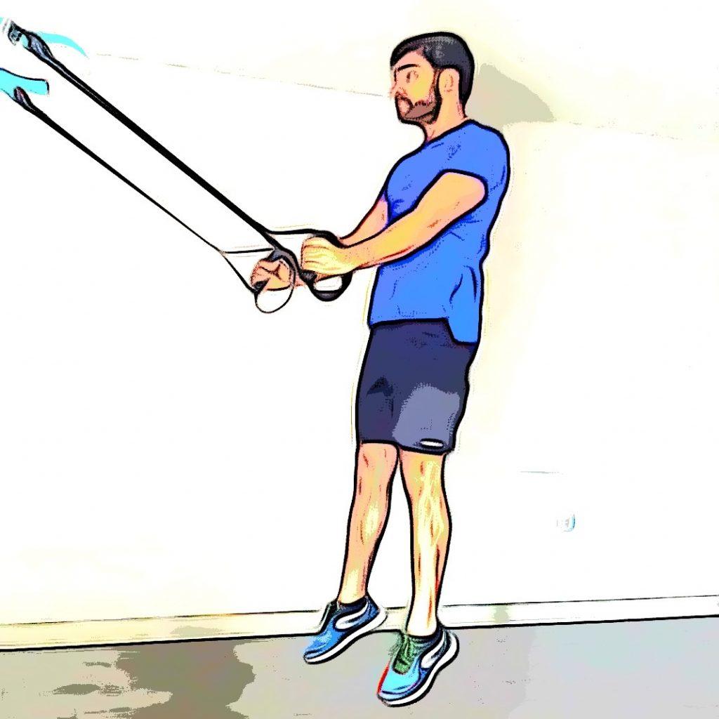 TRX squat jump : saut