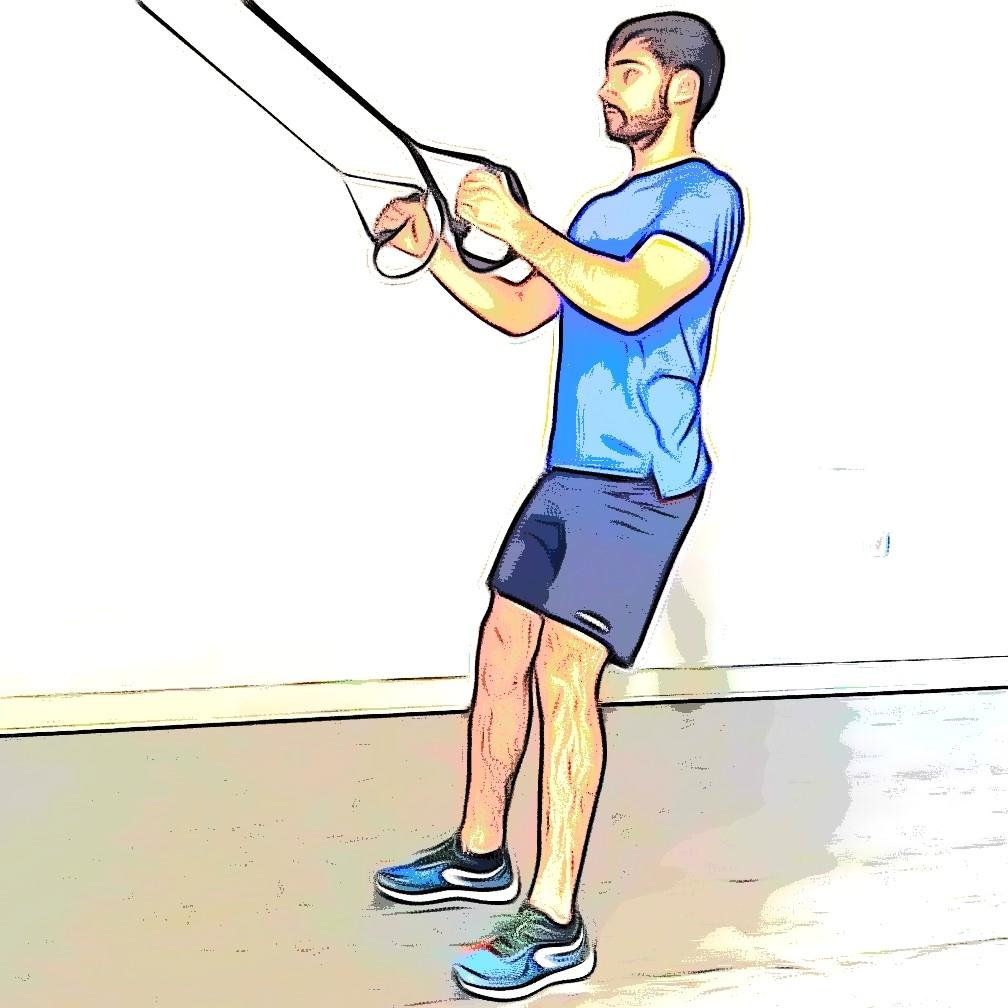 TRX squat jump : réception