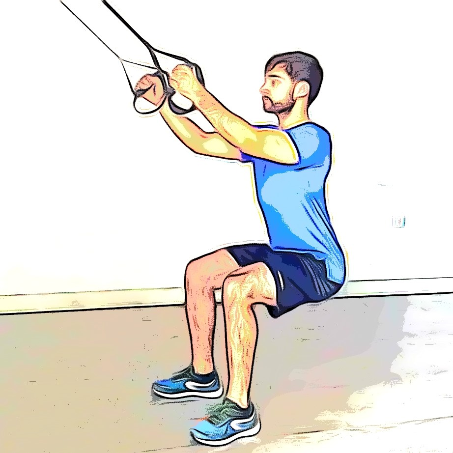 Exercices TRX squat jump