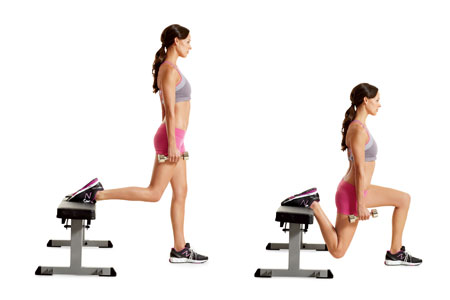 Bench and thighs exercises