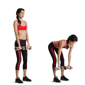 Back, legs, abs exercises