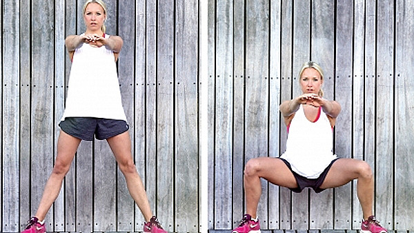 Squat exercise to get bigger thighs