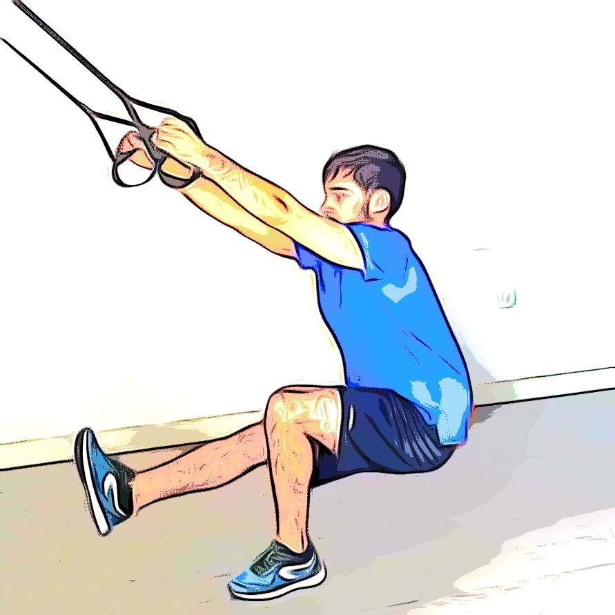 Exercices TRX pistol squat