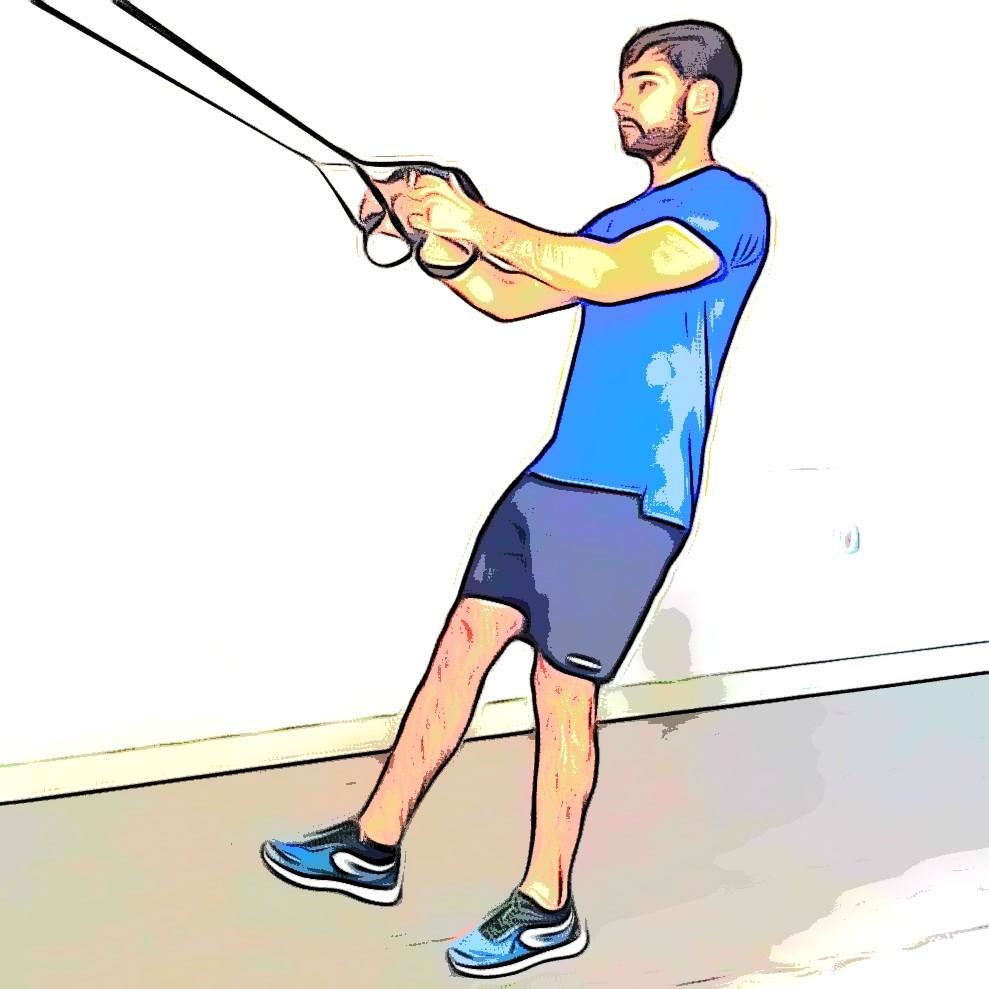 TRX pistol squat : position de départ