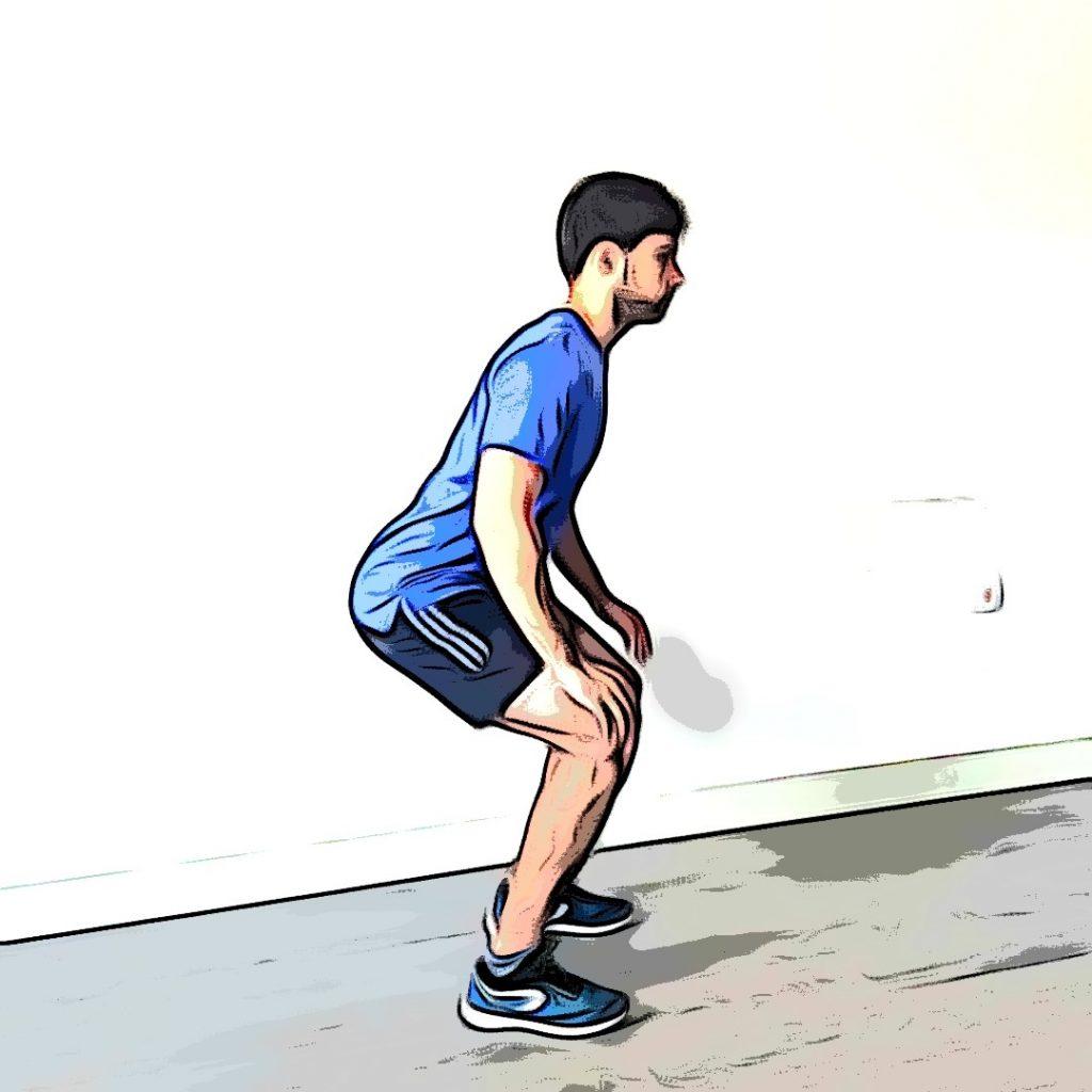 Burpee : faire une extension des jambes explosives