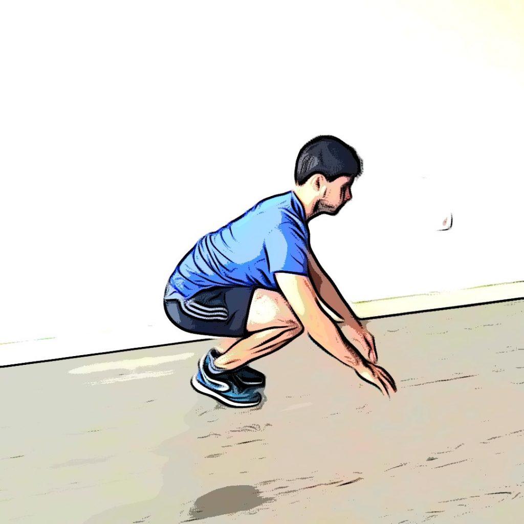 Burpee : se remettre en appui sur les pieds