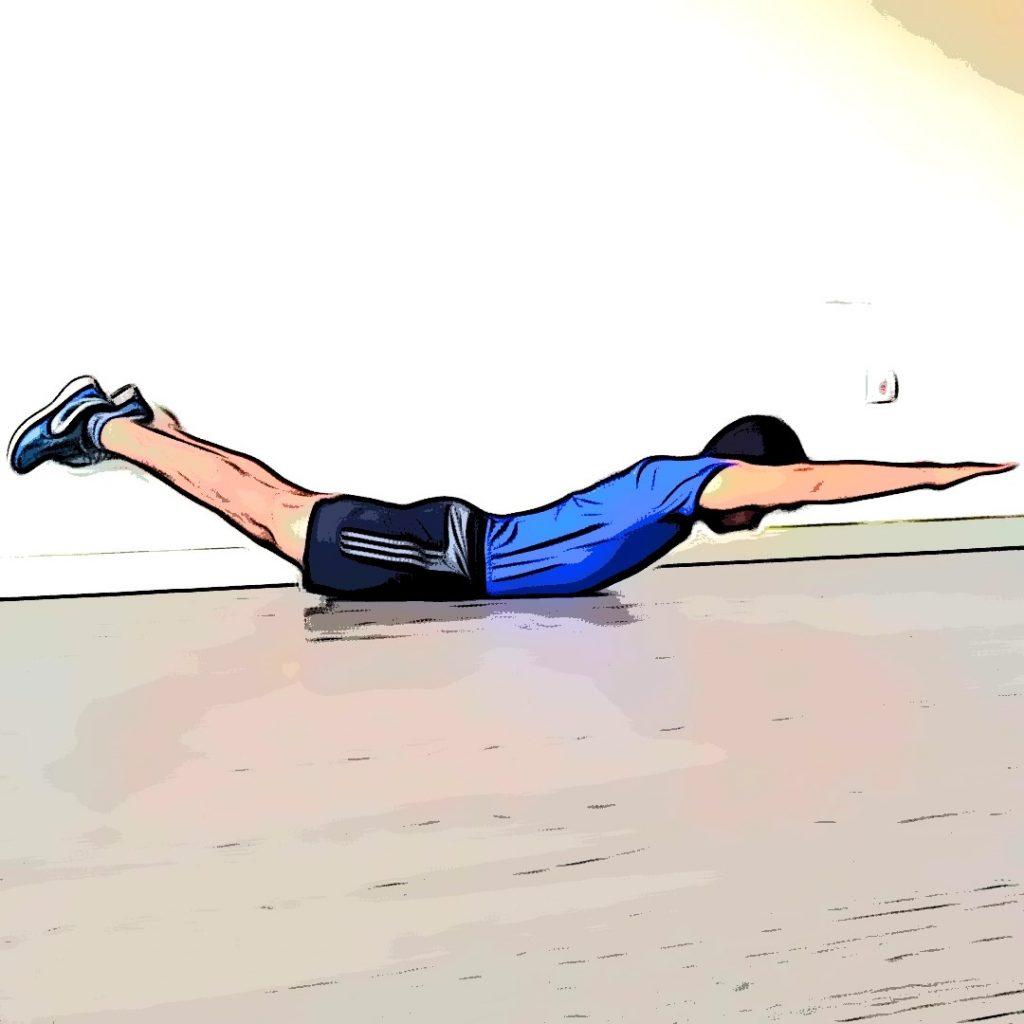 exercices de musculation sans matériel : extension lombaires