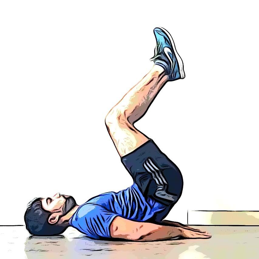 Le crunch inversé, exercices de musculation sans matériel