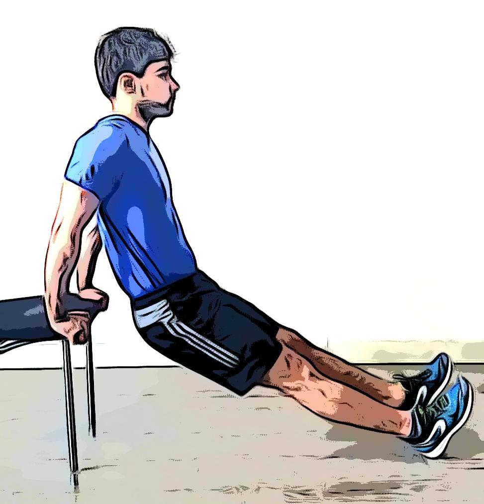 Le dips, exercices de musculation sans matériel