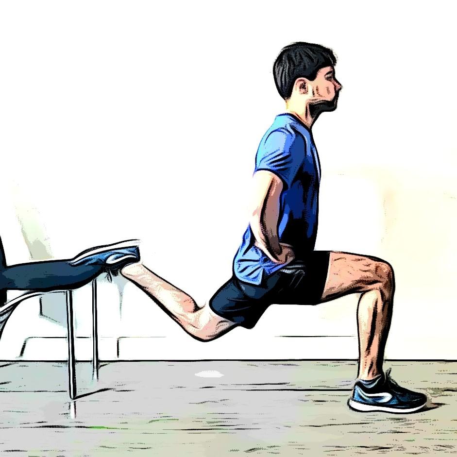 exercices de musculation sans matériel : squat bulgare