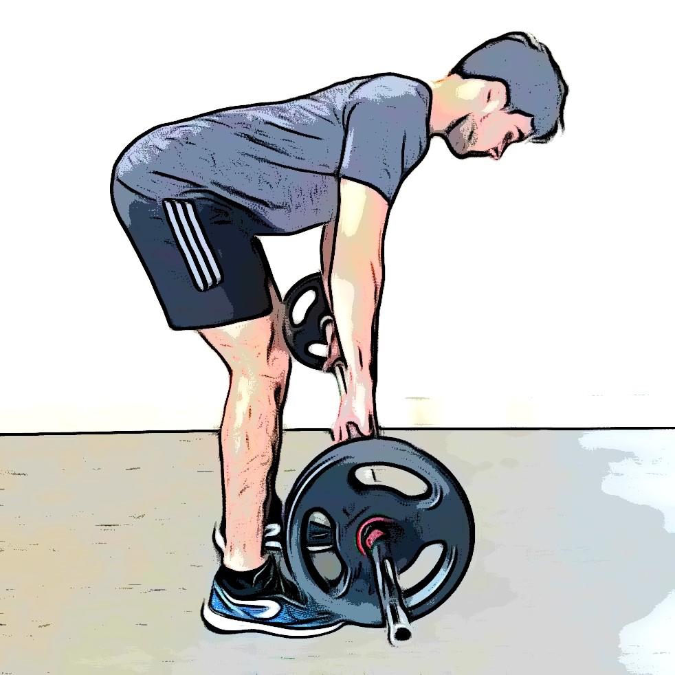Soulevé de terre jambes tendues : penchez le buste en avant