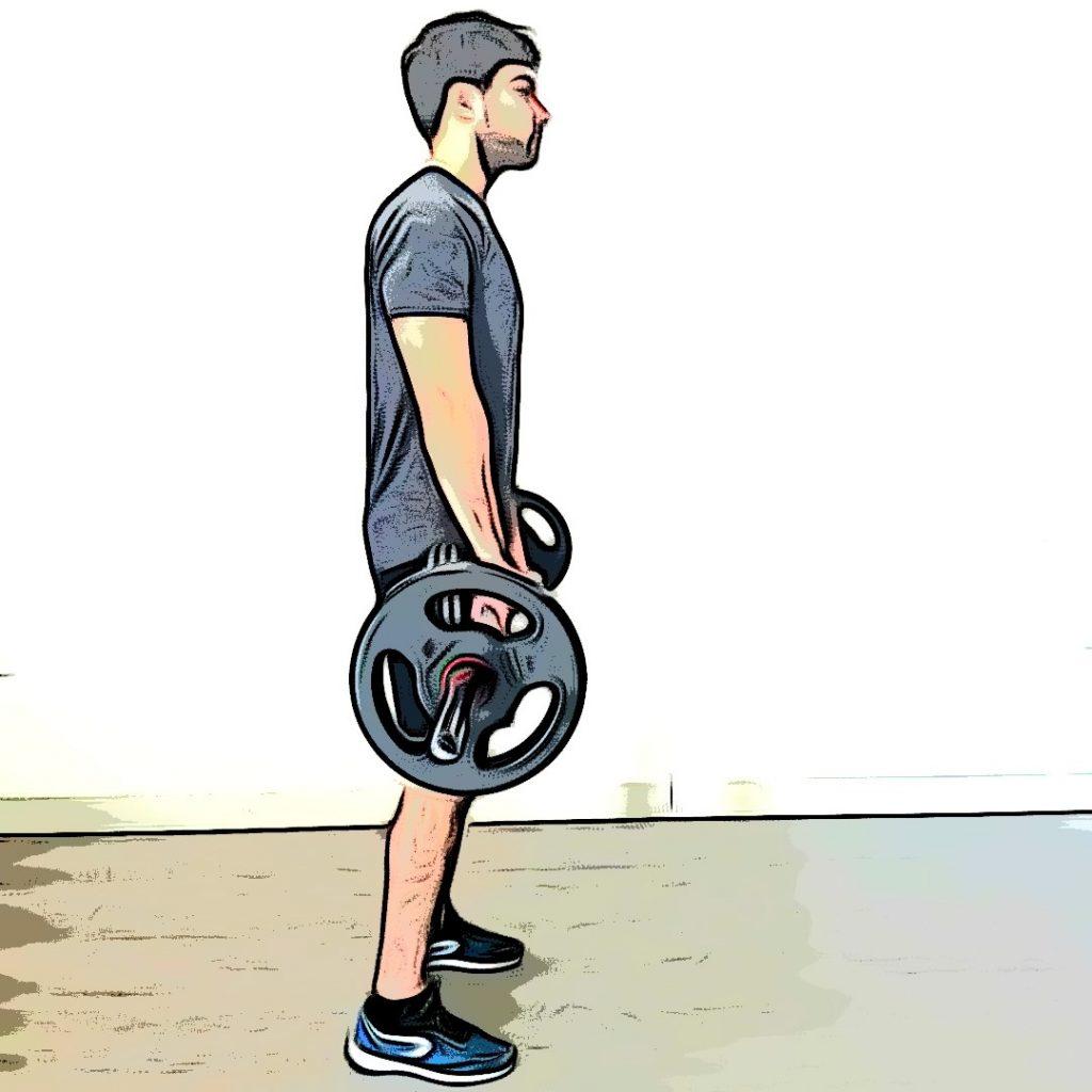 Soulevé de terre jambes tendues : position de départ