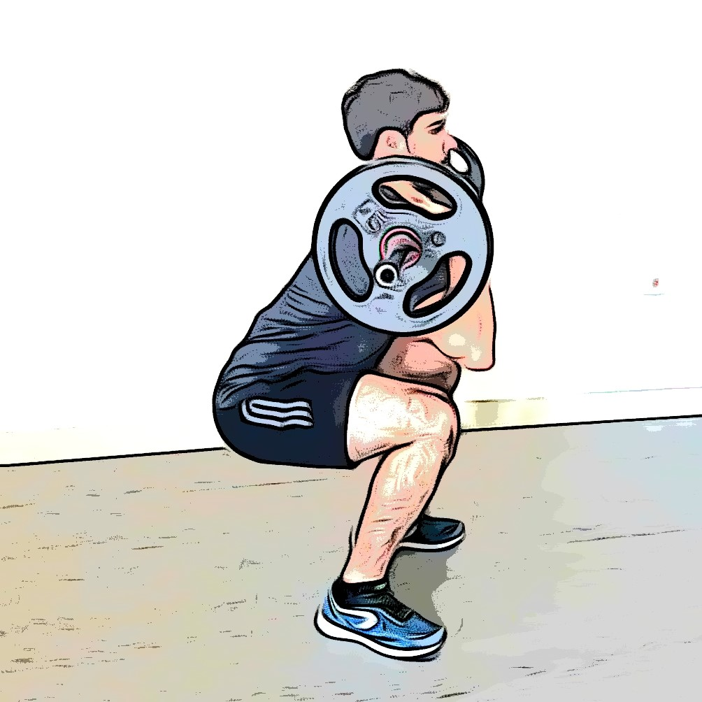 Front squat : flexion