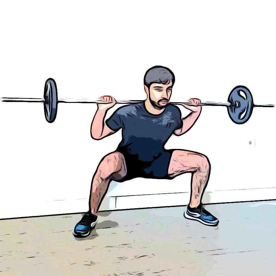 squat sumo : flexion