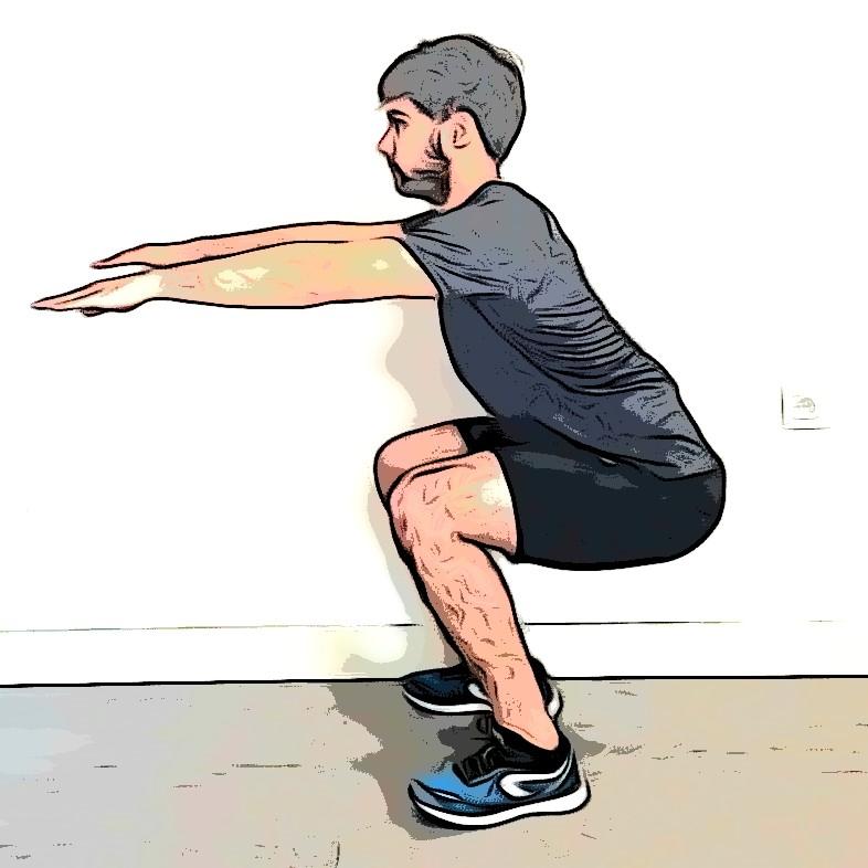Le squat, exercices de musculation sans matériel