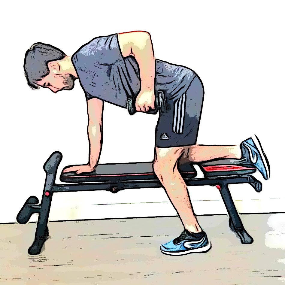 Exercices de musculation : tirage bûcheron