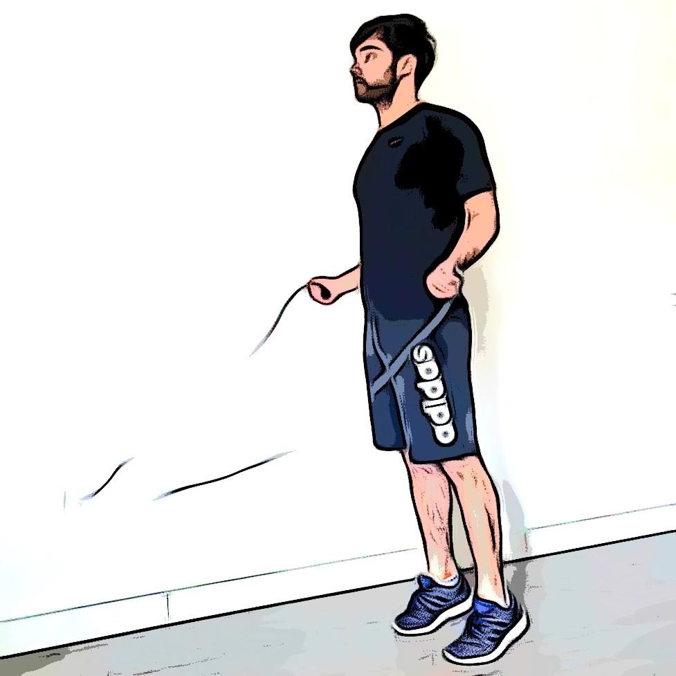 Exercice avec corde à sauté pour un renforcement musculaire en course à pied