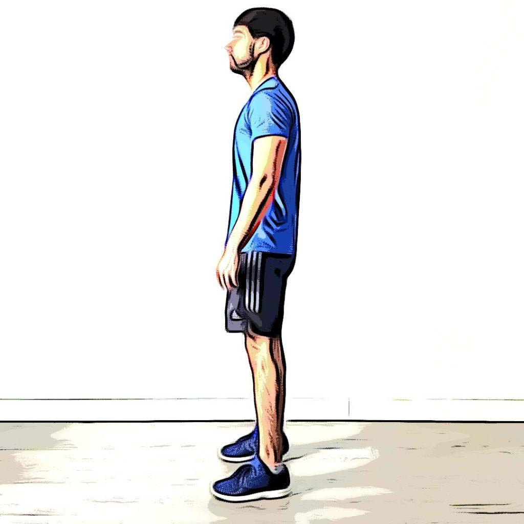 Fente arrière : position de départ
