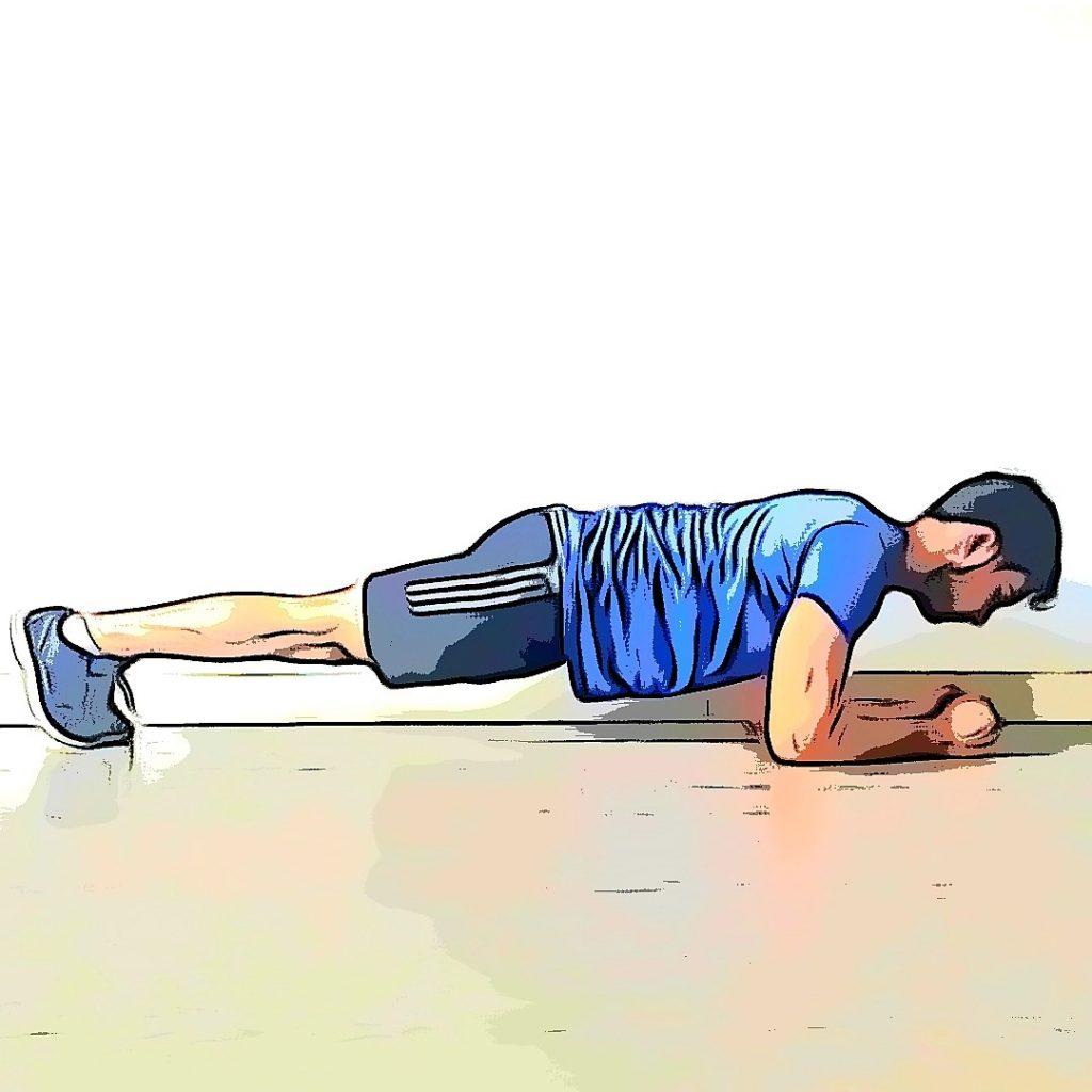 Exercice de la planche pour un renforcement musculaire en course à pied