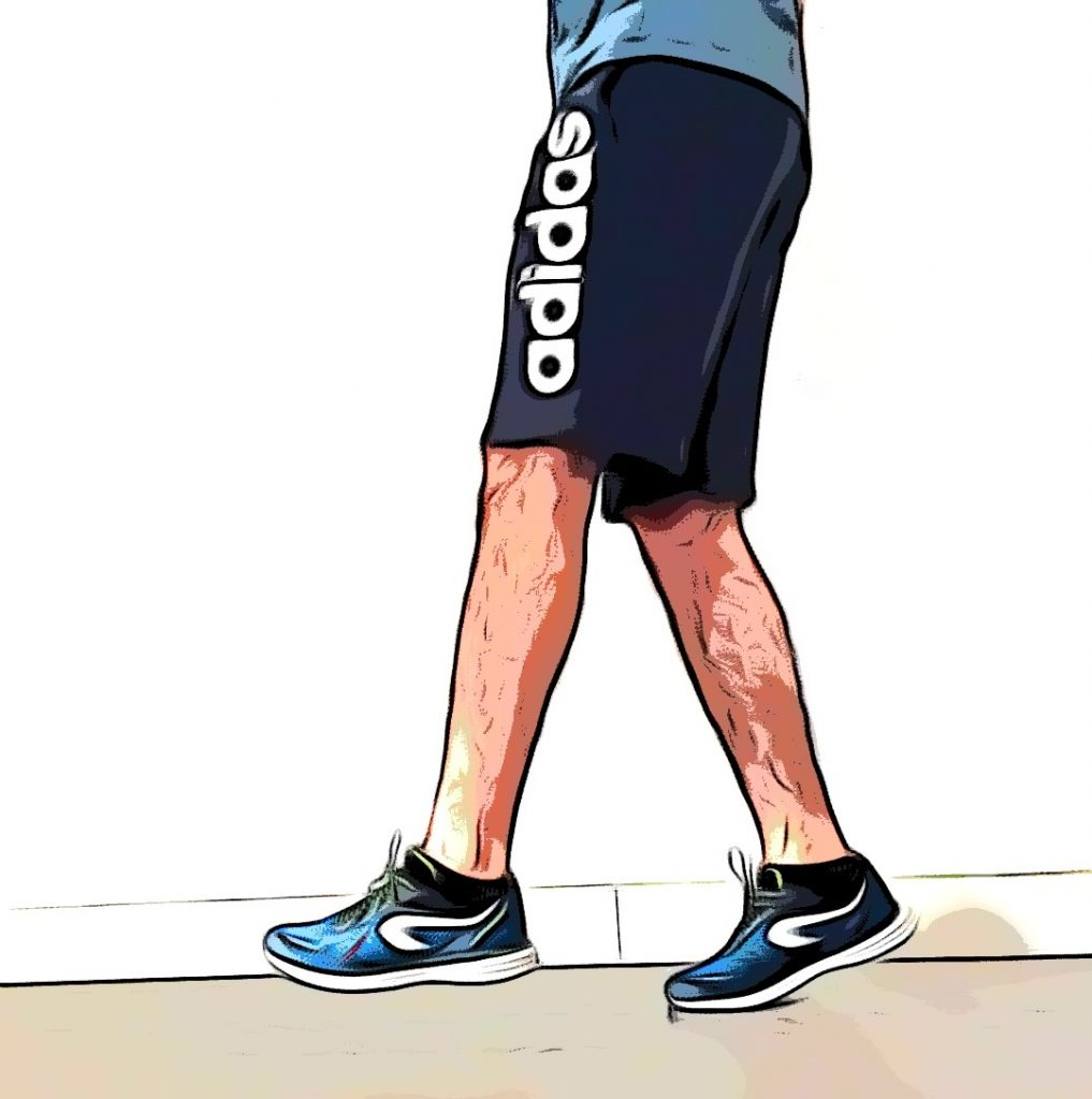 Déplacement pointe de pied : alternez les pieds