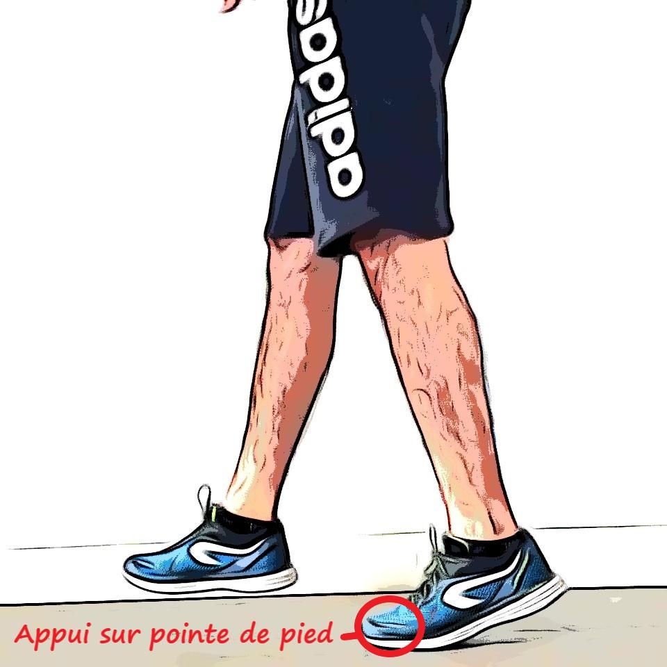 Technique en course à pied : déplacement pointe de pied