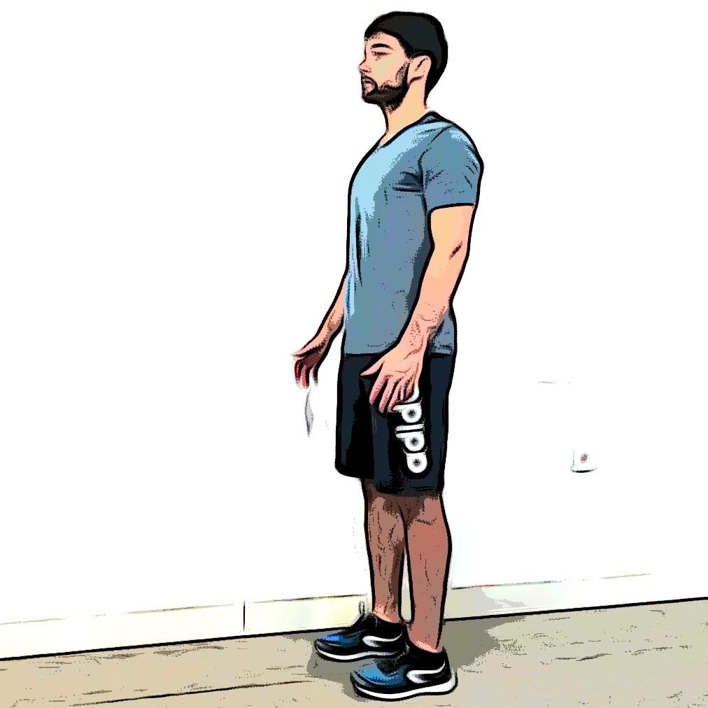 Montées de genoux : position de départ