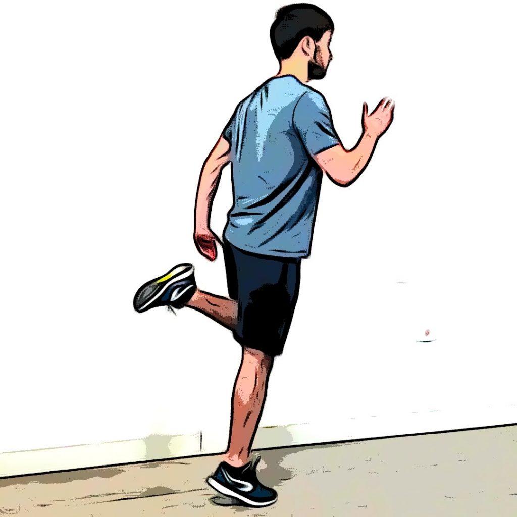 Talons-fesses : jambe gauche