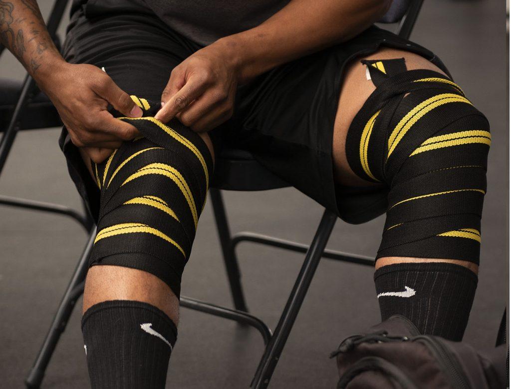 Genouillère de compression pour la musculation