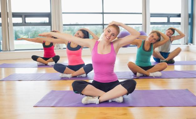Groupe pratiquant la méthode de fitness LIA