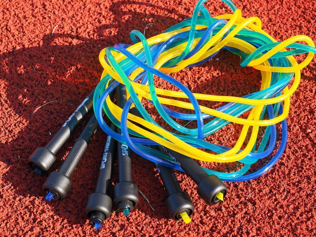 Cordes à sauter enroulées