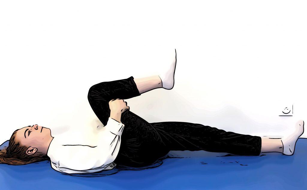 grand écart latéral : position intermédiaire 1